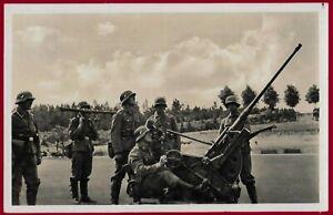 German WW 2 Third Reich postcard WEHRMACHT FLAK anti-aircraft  gun RPPC