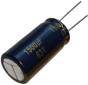 2x Condensateur Chimique Low Esr 1500µf 63v Tht 105°c 5000h Ø18x35.5mm Radial 1jturzzo-07185014-198130238