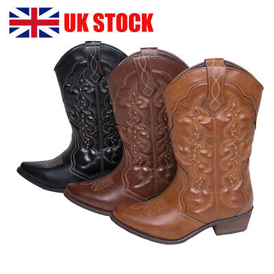 Womens Ladies Cowboy Cowgirl Boots