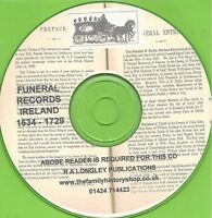 IRISH FUNERAL RECORDS, 1575 - 1730 CD