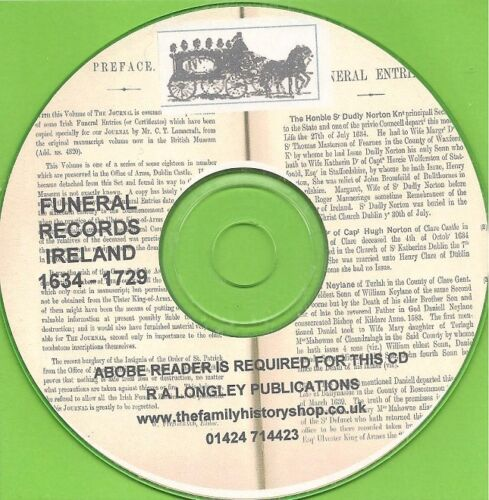 1634-1729 CD IRISH FUNERAL RECORDS