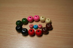 100x12mm-amp-200x8mm-Wooden-Round-Beads-Colour-Choice