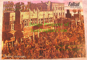 Fallout-New-Vegas-All-Roads-Poster-Lithograph-PERFECT-Must-See-24-034-x-17-034-NITF