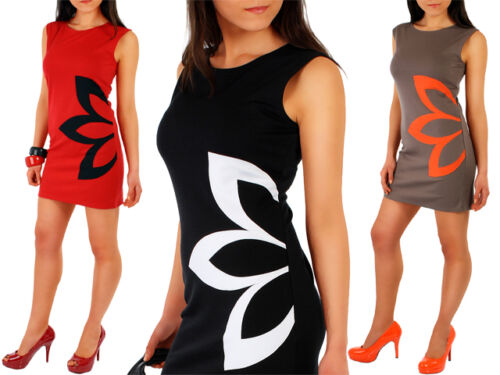 Women/'s Classic /& Elegance Dress with Flower Motive Tunic Style Size 8-16 FA07