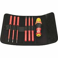 Wera Kk Vde 60i/7 Insulated Interchangeable Blade Pouch Set (slot/ph), 7 Piece, on sale
