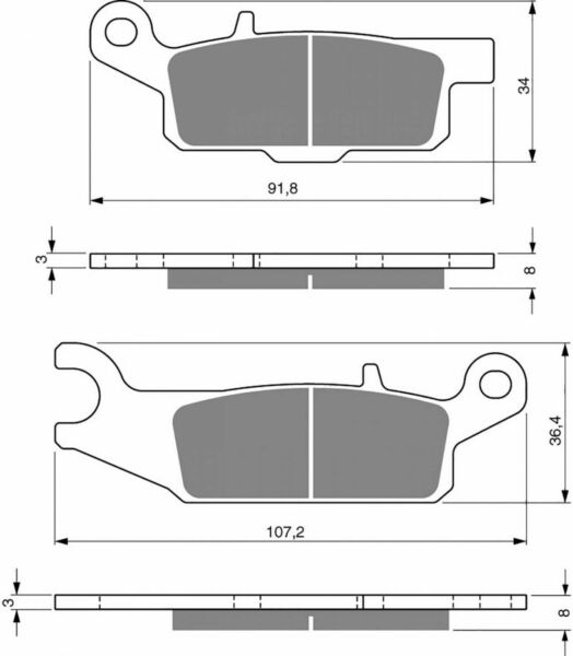 Goldfren K5 Front Right Brake Pads Fa444 Yfm700 Fwad Gplg Grizzly Ltd 2016
