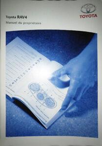 Housse-Livret-en-francais-Manuel-du-Proprietaire-TOYOTA-RAV4-III-phase-1-2006