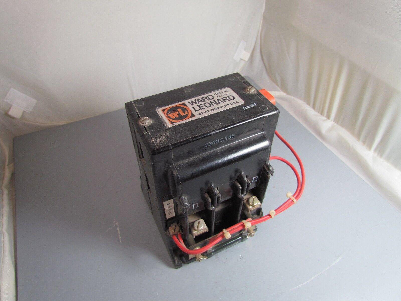 Ward Leonard Contactor, Size 1, 2 Pole, 25 amp, 235 volts DC, CatN
