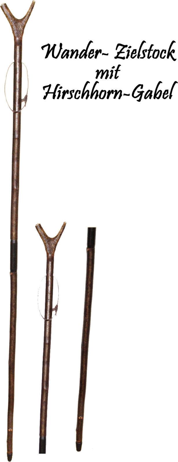 Zielstock  echte Hirschhorngabel Zielhilfe aus Haselnuss 2-teilig Jagd Wandern