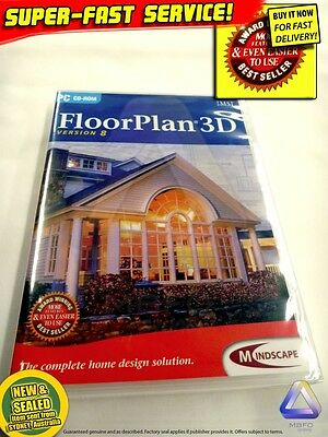 FLOORPLAN software for Windows PC ★NEW ★3D+2D CAD design floor plan building DIY