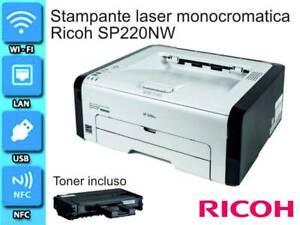 Ricoh-SP220NW-Stampante-Laser-Bianco-Nero-A4-23-PPM-Wi-Fi-NFC