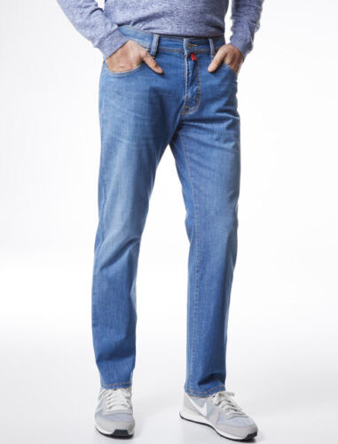 PIERRE CARDIN DEAUVILLE summer air touch azur blue Herren Jeans 31961 7330.17