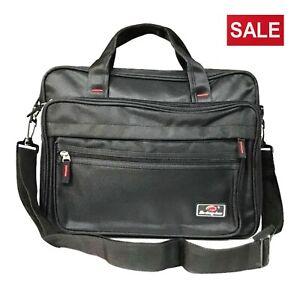 Work-Document-Laptop-Messenger-Shoulder-Bag-Briefcase-Work-Travel-Office-Zipped