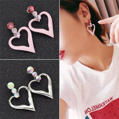 Ohrstecker Ohrringe Frauen Design Hallow Liebe Herz Beauty Geschenk Modeschmuck