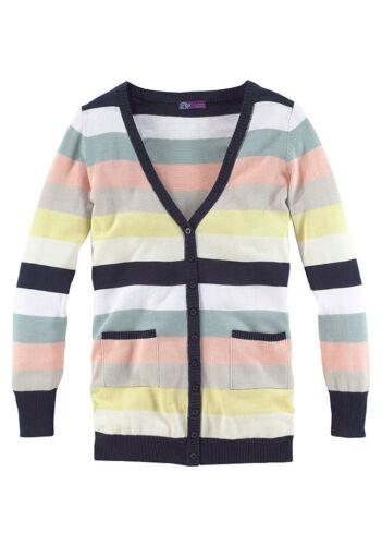 Pastell gestreift SALE/%/%/% Long-Strickjacke AJC Girls NEU!!
