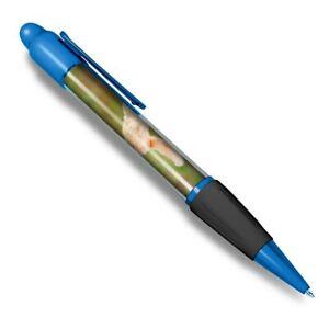 Blue-Ballpoint-Pen-Jumping-Ginger-Cat-Kitten-Office-Gift-2601