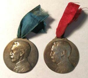 Lot-de-2-medailles-Gallieni-034-Jusqu-039-au-bout-034