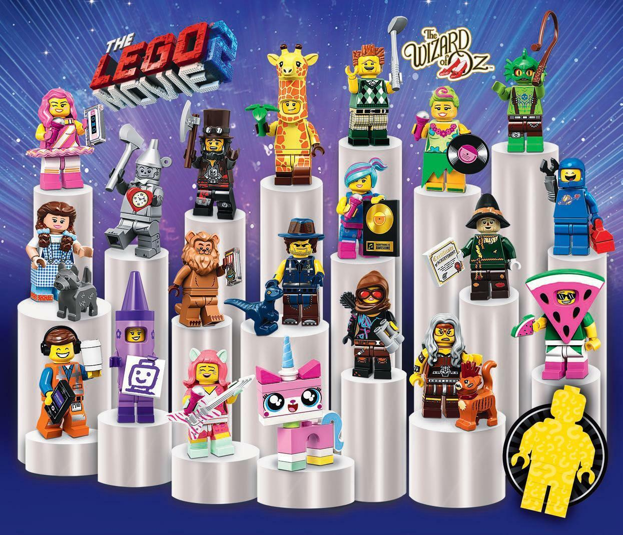 LEGO® The LEGO Movie 2 Serie 71023 Febbraio 2019 Complete 20 Figures