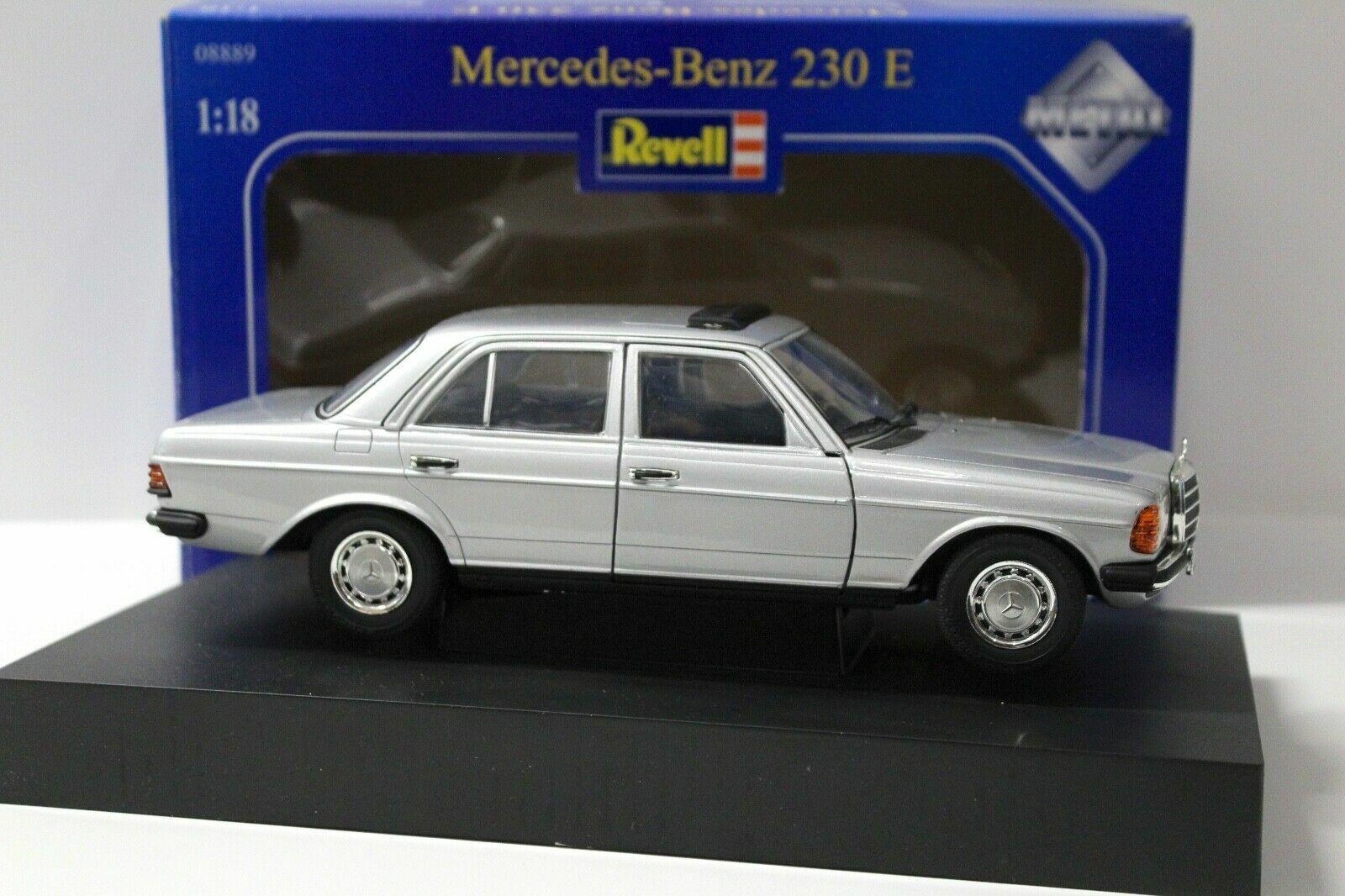 REVELL 1983 Mercedes Benz 230E W123 Silver Blue LE 1000 1:18 New Item*VERY  RARE!