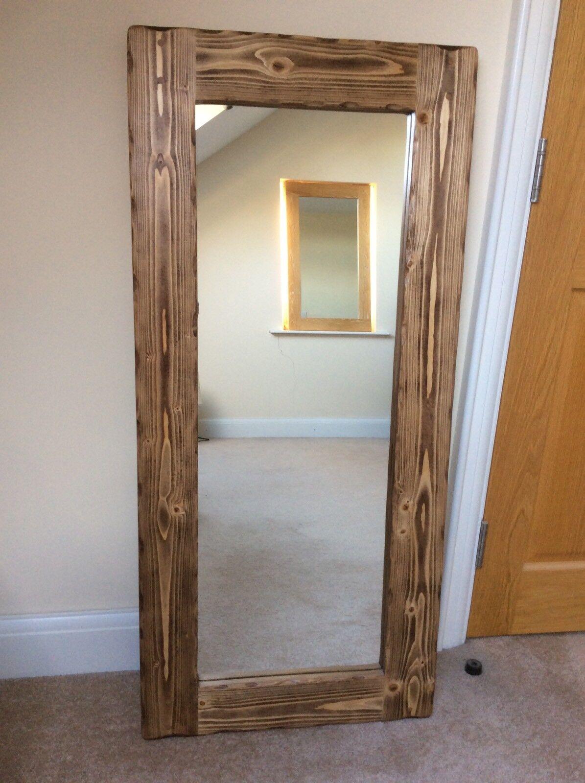 Beautiful quality handmade chunky rustic full length wooden mirror