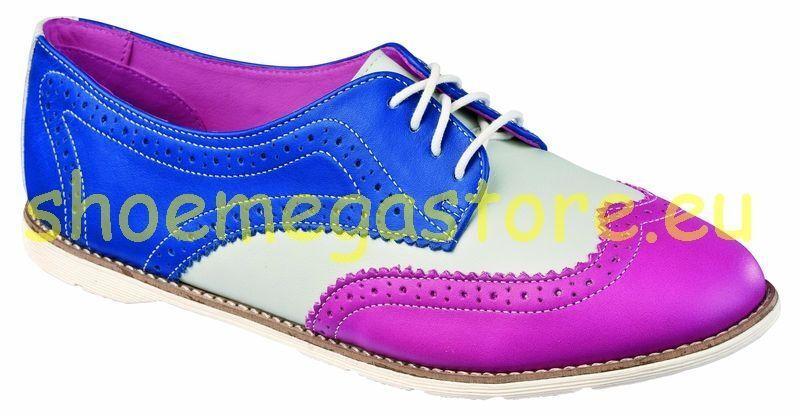 DR Martens 4 fori Polina Polina Raspberry + OFF WHITE + BLUE 14506670 ORIGINALE DOC