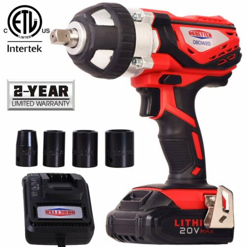 Cordless Impact Wrench 1//2 Inch Compact Driver Battery High Torque Portable