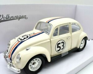 Modello-di-auto-FILM-MOVIE-1-24-VW-Beetle-Herbie-modellcar-Diecast