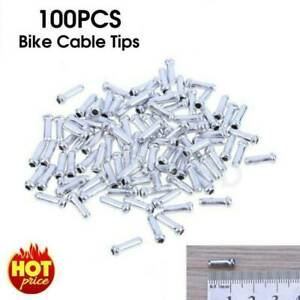100pcs//kits Bike Bicycle Brake Cable Tips Crimps Gear Inner Cable End Cap Wire
