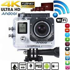 Andoer WiFi 4K 30fps/1080P 60fps Full HD 16MP Action Camera Waterproof 30m K9H8