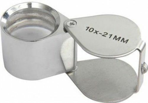 Mercury Swivel Folding Pocket Magnifier21mmChrome 10X-21mm