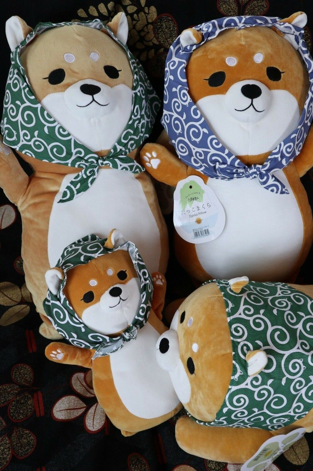 Shiba dog dog dog Shiba inu Body pillow hug Grün or Blau very cute & Citron fragrance a273b7