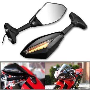 paar motorrad spiegel lenkerspiegel mit led blinker. Black Bedroom Furniture Sets. Home Design Ideas