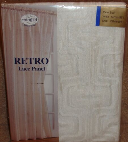 Retro Voile Panel 5 colours Reduced To Clear From Only £4.99 each