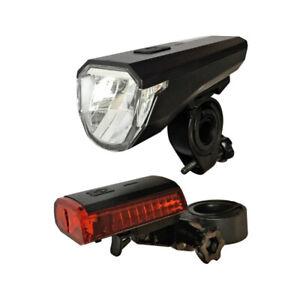 LED Fahrrad Beleuchtung Set 30 LUX StVZO Licht Scheinwerfer Rücklicht Lampe
