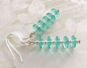 Minimalist-Earrings-Czech-Glass-Emerald-Green-Retro-Stack-Blogger-ASOS-US-Seller