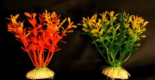 1x Choose Colour Aquarium Fish Tank Plastic Plants Tree Decoration Ornament 10cm