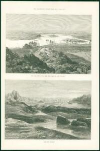 1874-Antique-Print-AFRICA-Late-Rising-Nile-First-Cataract-190