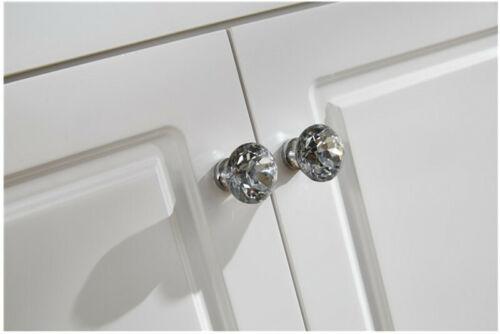 2pcs 30mm Crystal Diamond  Furniture Cabinets Drawer Hardware Handle Pull Knobs