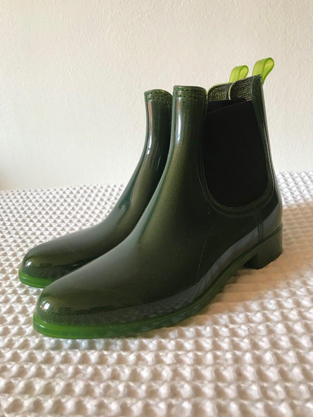 6b98bac139a JEFFERY CAMPBELL GREEN RUBBER CHELSEA Size 4 UK, 37 EU BOOTS ...