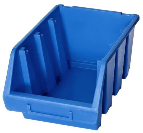 blue box pièces de plastique de stockage empilage cueillette bacs 170x240x126 1 x ergo l