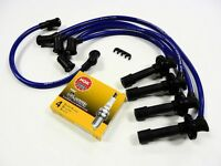 Vms 89-94 Suzuki Swift Gt Gti 1.3l Spark Plug Wires & Ngk Platinum Plugs Blue