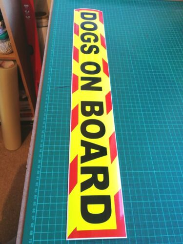 DOGS ON BOARD Magnets Magnetic Sign Trailer K9 UNIT  Chevron sticker  620mm