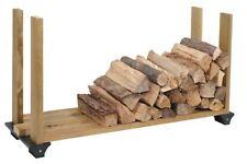 Superbe Firewood Rack System Wood Log Holder Storage Carrier Fireplace Outdoor 2x4  Black