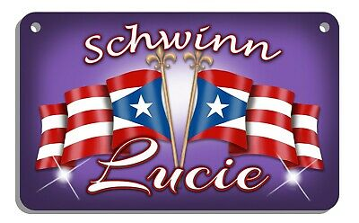 Puerto Rican Flags Bicycle License Name Plate Personalize Puerto Rico
