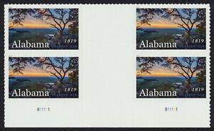 #5360 Alabama Statehood, Vertical Gutter Bloque De 4 [2] Cualquier 5=