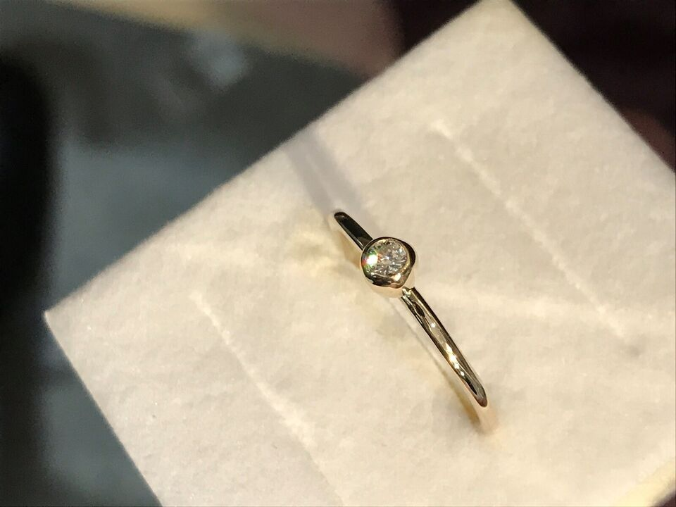 Ring, brillant, 585