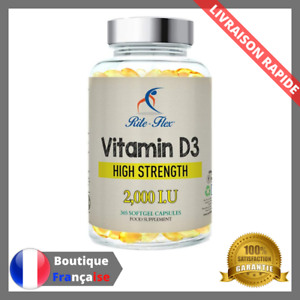 Vitamine-D3-2000-IU-365-Capsules-Supplement-Alimentaire-Fort-Os-Dents-Sante-D