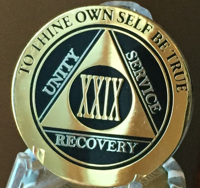 Green /& Silver Plated Any Year AA Chip Alcoholics Anonymous Medallion Coin Plate