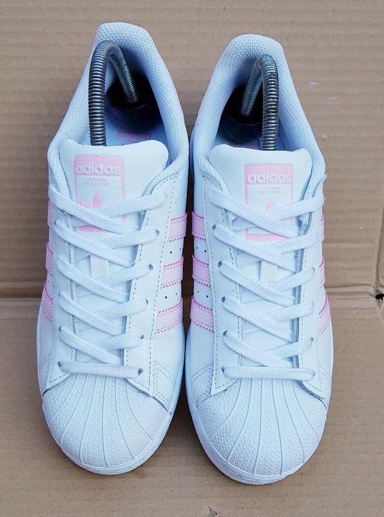 ADIDAS SUPERSTAR TRAINERS Weiß & BABY Rosa REPTILE REPTILE REPTILE Größe 5.5 UK IMMACULATE  | Günstige Bestellung