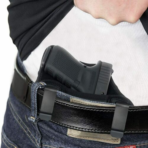 Tactical Leather Pancake Concealed Carry IWB Right Gun Holster /& Magazine Pouch